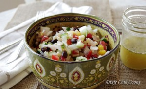 Mixican confetti salad with honey-lime vinaigrette