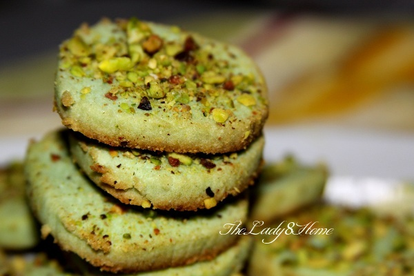Egg less pistachio cookies