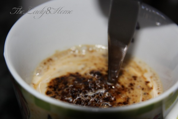 instant coffee in microwave