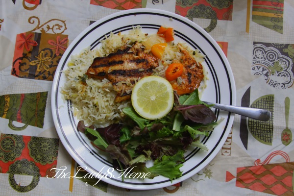 Green Cashew rice with fish and greens