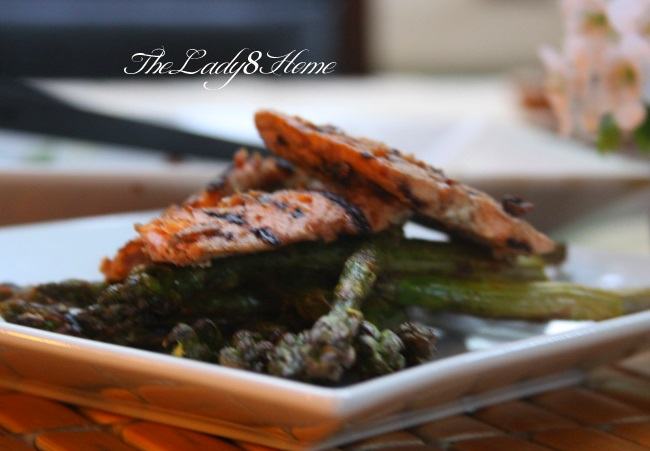 asian grilled salmon inafridays the lady 8 home. Black Bedroom Furniture Sets. Home Design Ideas