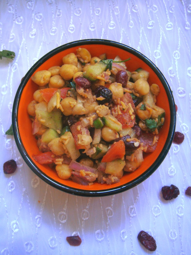 Sindhi chana chaat