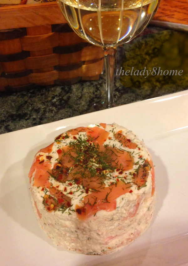 Smokes salmon cream cheese dip