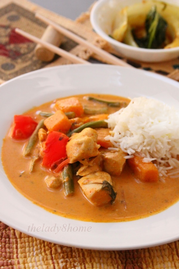 red curry and bok choy