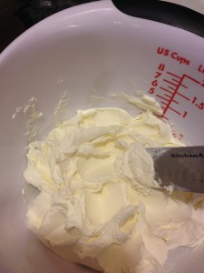soften and beat cream cheese