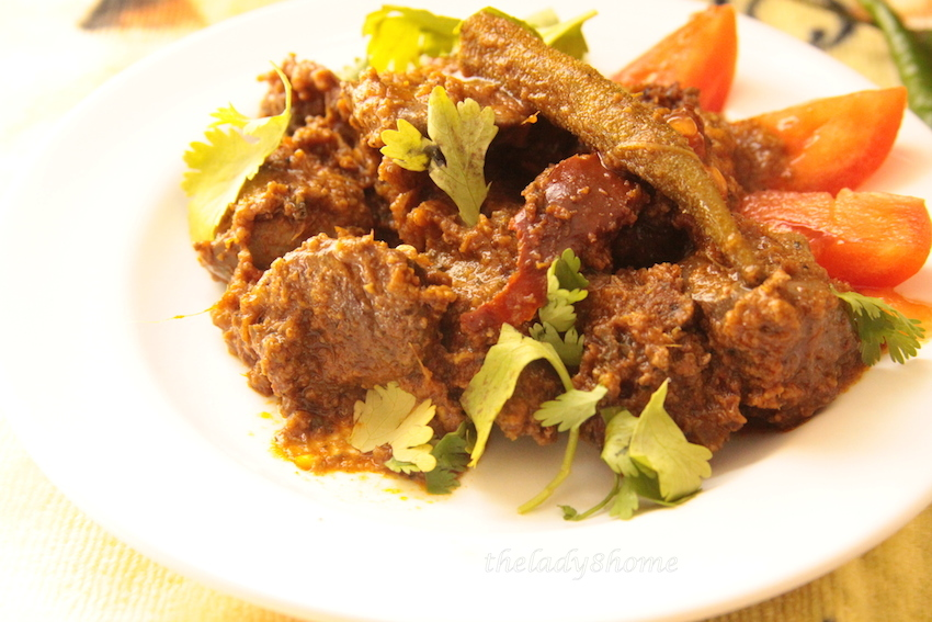 Liver fry with okra