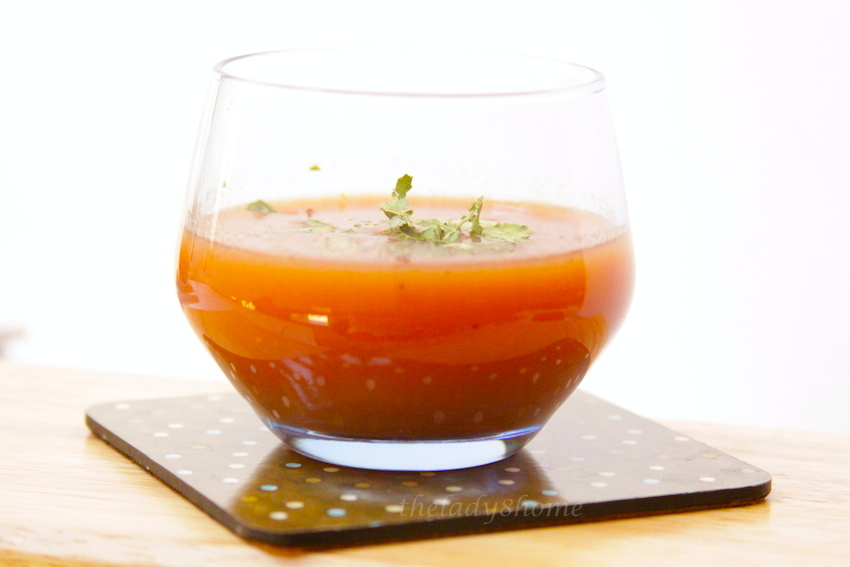 solo glass gazpacho
